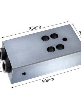 Мебельный кондуктор, шаблон на косой шуруп 9.5 мм