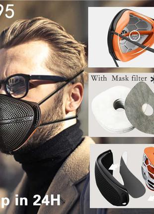Kanshouzhe n95 многоразовая + 20 фильтров маска респиратор ffp2