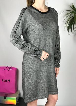 Платье свитшот трикотажное с лампасами