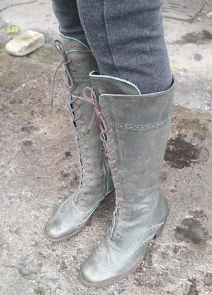 Шикарные кожаные сапоги nome .более 1000 пар обуви!!