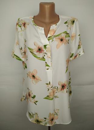 Блуза нежная красивенная в цветы marks&spencer uk 12/40/m