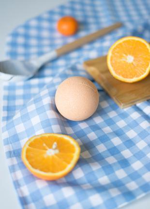 Бомбочка для ванны с перламутром апельсин
