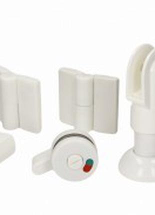 Фурнітура для сантехнічних/ туалетних перегородок/ кабін біла