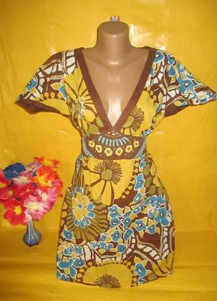Красивое женское платье -туника на пышные формы грудь 53-54 см...
