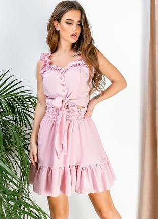 Женский костюм то+юбка