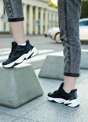 Отличные женские кроссовки nike m2k tekno чёрные