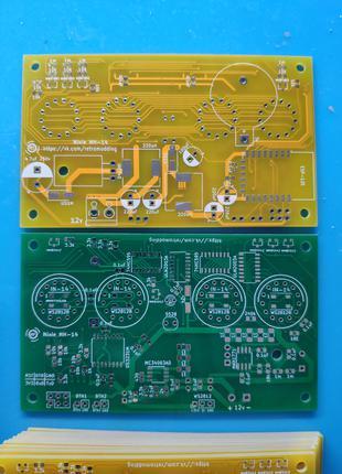 Печатная плата часы на лампах ИН-14 с WiFi Nixie Clock IN-14