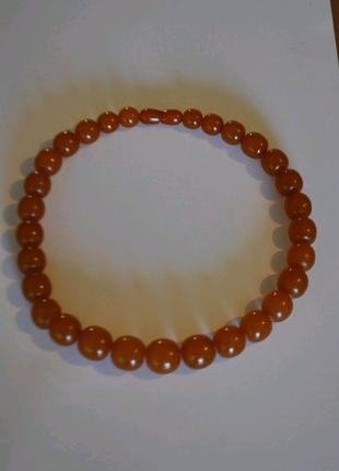 Винтажное янтарное ожерелье бусы