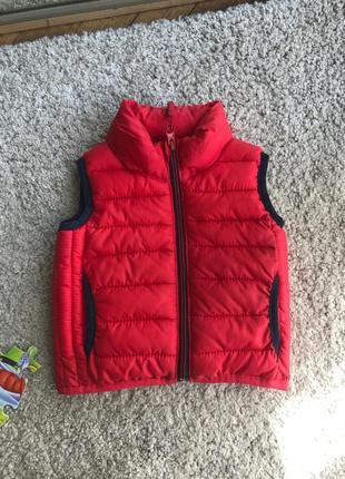 Куртка детская без рукавов жилетка