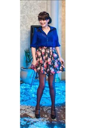 Шифоновое джинсовое крутое платье рубашка