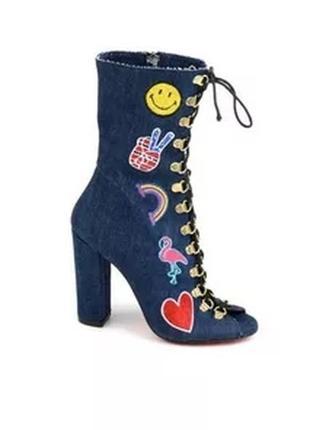 ✅джинсовые летние ботинки