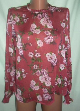 Блузка в цветочный принт размер 12
