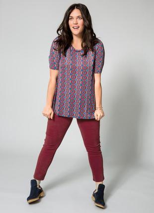 Стрейч джинсы, джеггинсы, скини denim co цвета марсала 54-56-58