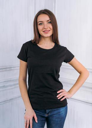 Жіноча футболка однотонна бавовна
