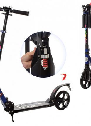 Складной 2-колесный самокат для взрослого SR 2-017-BL