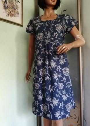 Котоновое летнее платье, большой размер