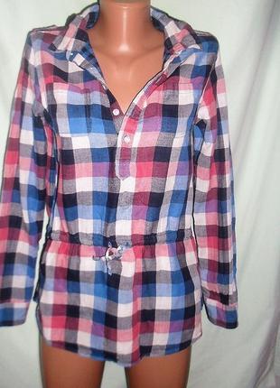 Хлопковая рубашка m&s 13-14лет рост 164