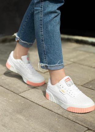 Шикарные женские кроссовки puma cali белые