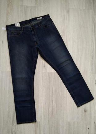 Джинсы мужские синие marks & spencer размер w40/l33 slim