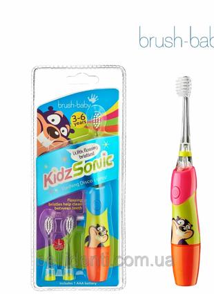 Электрическая зубная щетка Brush-Baby KidzSonic (3-6), звуковая