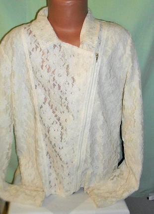 Кружевной пиджак на 11лет рост 146