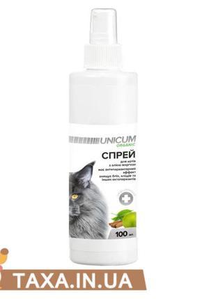 Спрей от блох и клещей для котов 100 мл UNICUM ORGANIC
