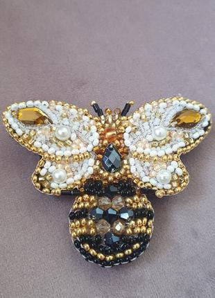 Брошь Золотая Пчелка
