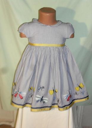 Платье с бабочками на 18-24мес