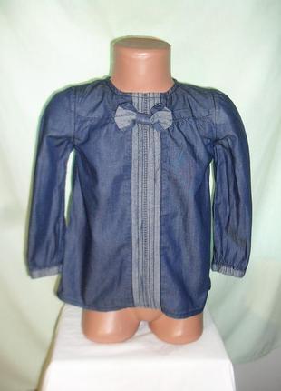 Рубашка джинс на 3-4годика
