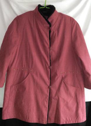Классная женская куртка на искусственном меху
