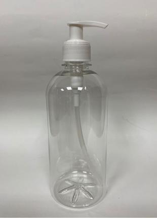 Флакон с дозатором 500 мл для антисептика/ жидкого мыла