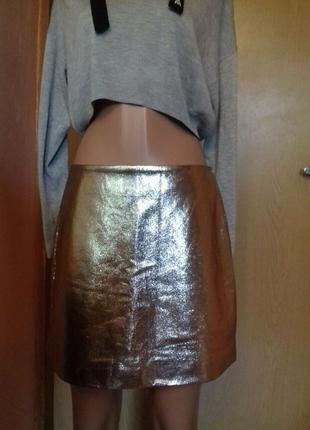 Золотая юбка forever21
