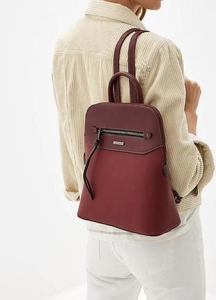 Красный рюкзак david jones городской женский отличное качество
