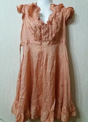 Платье-бренд--petite-14-16р цвет пыльной розы распродажа