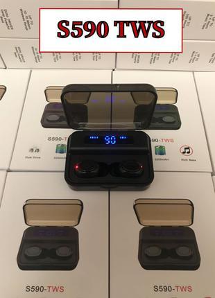 Беспроводные вакуумные Bluetooth блютуз наушники S590 TWS