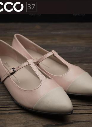 Женские туфли лоферы ecco shape pointy ballerina 269453 оригин...