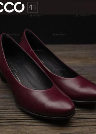 Женские кожаные туфли ecco sculptured 45 230203 оригинал р-41