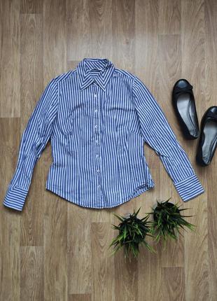 M/ рубашка хлопок в полоску