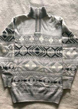 Шерстяной мужской свитер Турция