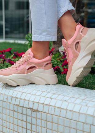🌸 летние стильные кроссовки на высокой платформе