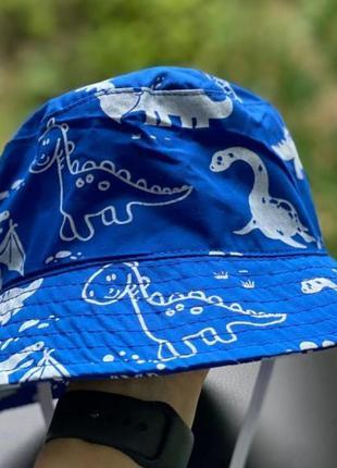 Детская панама с динозаврами