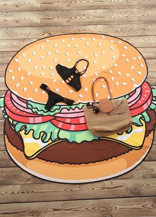 Покрывало пляжное подстилка гамбургер 3351