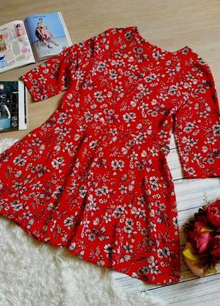 Невероятно красивое платье в цветочный принт размер 16-18(46-48)