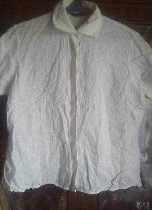 Беленькая лёгенькая рубашка с коротким рукавом-шри-ланка