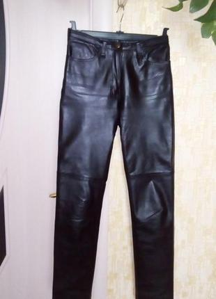 Стильные 100% кожаные брюки/штаны/джинсы/брюки