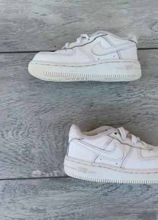 Nike air force 1 детские кроссовки кожа оригинал белые