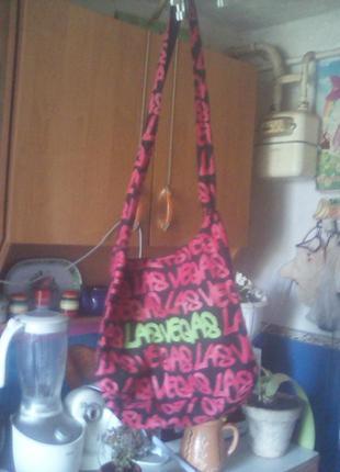 Текстильная сумка-почтальонка(пляжная)