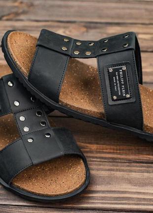 👟 сандалии мужские натуральная кожа чёрные 👟