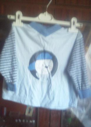 Крутой реглан-футболка с длинным рукавом