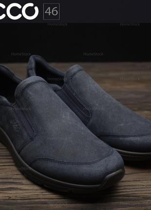 Слипоны туфли мокасины мужские ecco irving 511684 оригинал р-46